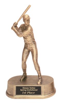 baseball antique gold resin