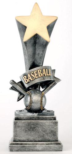 baseball star award resin
