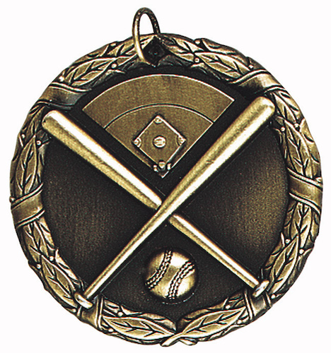 baseball with field xr series medal