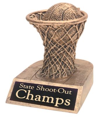 basketball antique gold resin