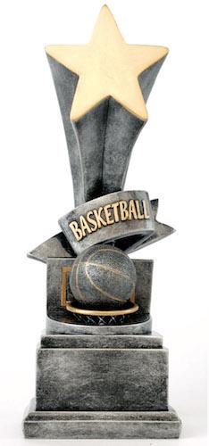 basketball star award resin