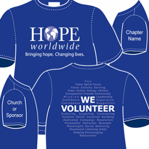 hope ww blue t-shirt