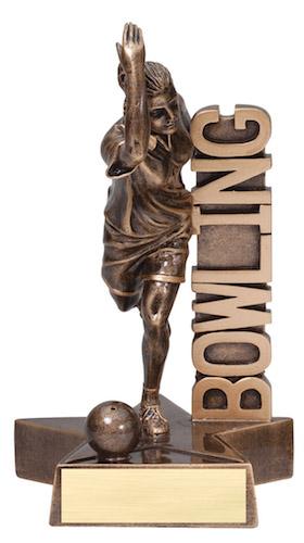 female bowling billboard series resin
