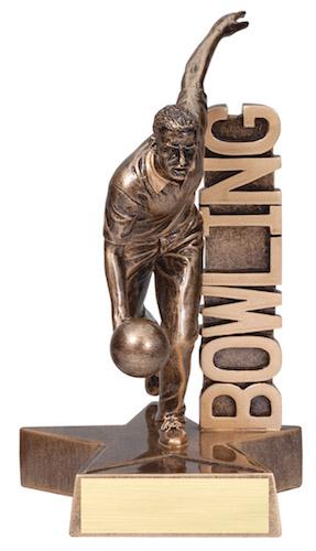 male bowling billboard series resin