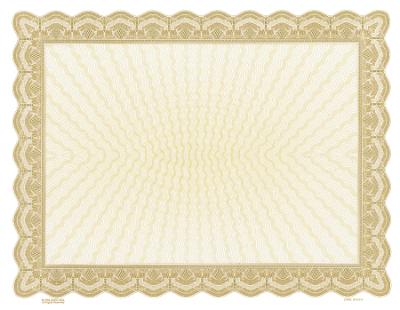 gold blank certificate