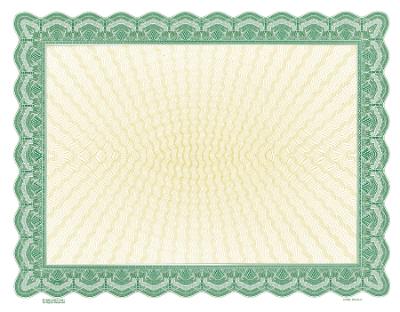 green blank certificate
