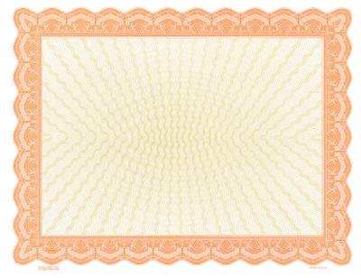 orange blank certificate