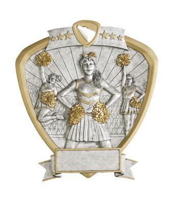 cheerleader signature shield resin