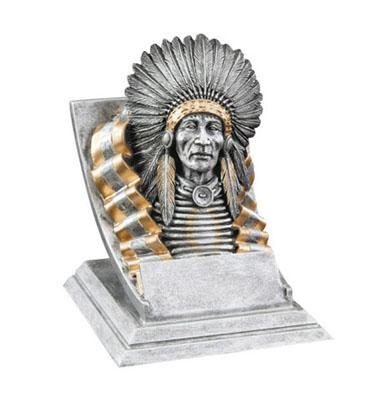 chief mascot resin