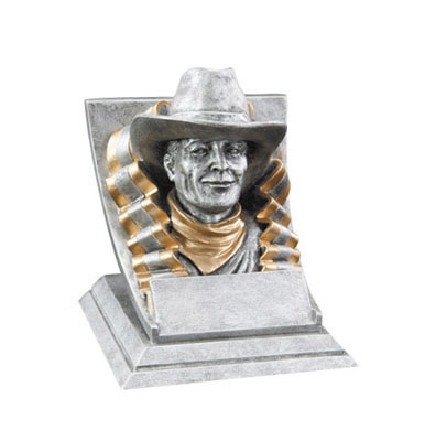 cowboy mascot resin