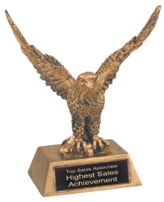 eagle antique gold resin