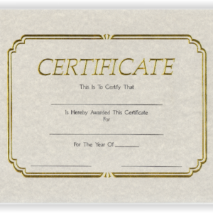 Gold Foil Embossed Certificates