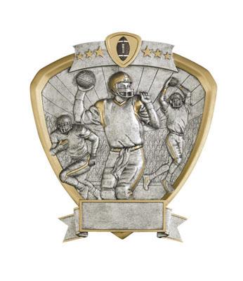 football signature shield resin