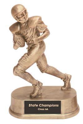 football antique gold resin