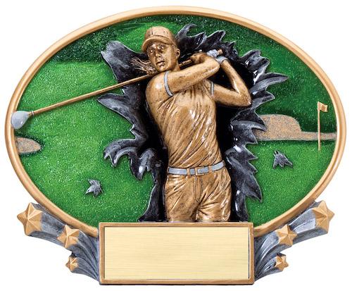 female golf motion x oval resin