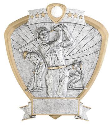 male golf signature shield resin