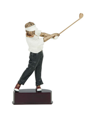 male golf action color resin