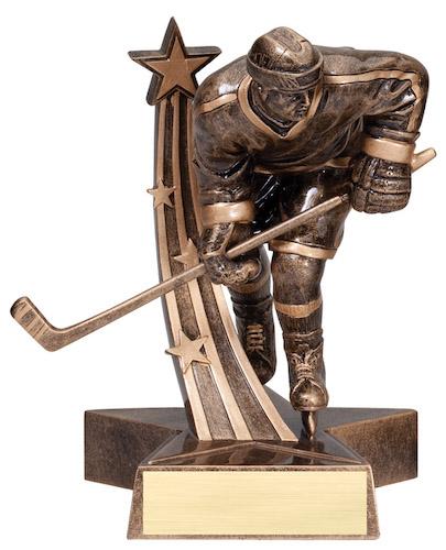 male hockey super star resin