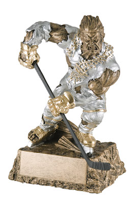 hockey monster resin
