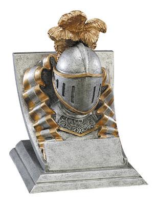 knight mascot resin