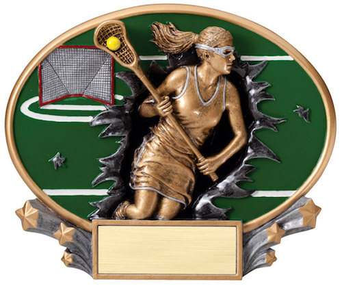 female lacrosse motion x oval resin