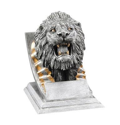 lion mascot resin