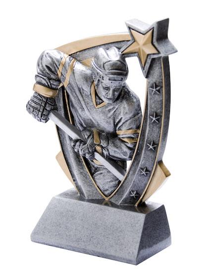 hockey shooter 3-d star resin