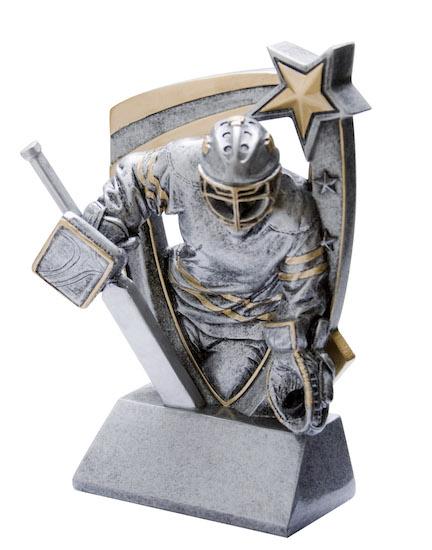 hockey goalie 3-d star resin