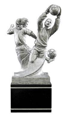 female soccer double action resin