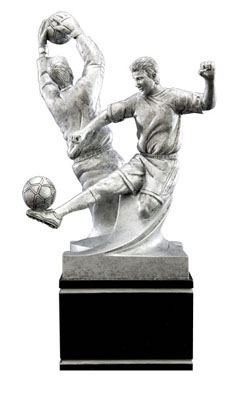 male soccer double action resin