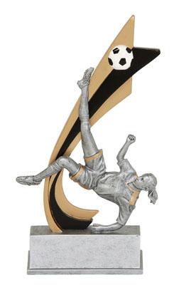 female soccer live action resin