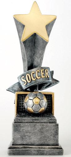soccer star award resin