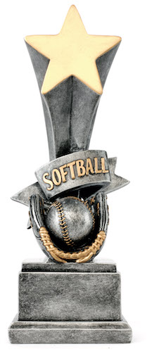 softball star award resin