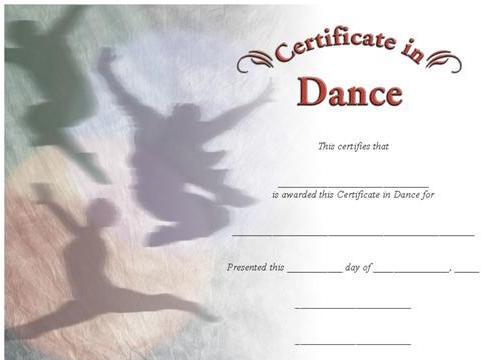 certificate in dance