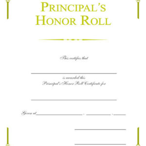 Certificate of appreciation wilson awards principals honor roll gold foil certificate yadclub Image collections