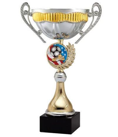 gold and silver insert medal cup