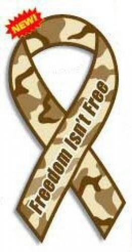 freedom isn't free ribbon magnet