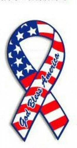 god bless america ribbon magnet