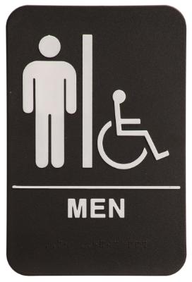 Men Wheelchair ADA Sign Black