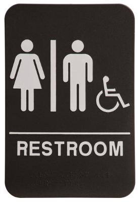Unisex with Wheelchair ADA Black