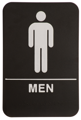 Men ADA Sign Black