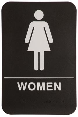 Women ADA Sign Black