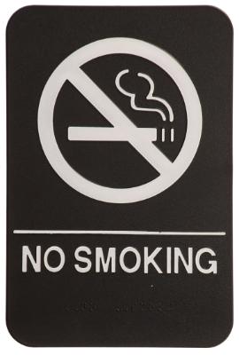 No Smoking ADA Sign Black