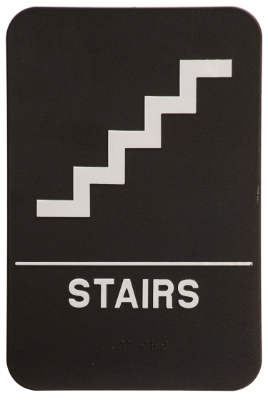 Stairs ADA Sign Black