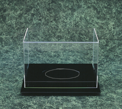 acrylic football display case with black base