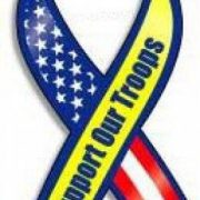 support our troops ribbon magnet stars and stripes