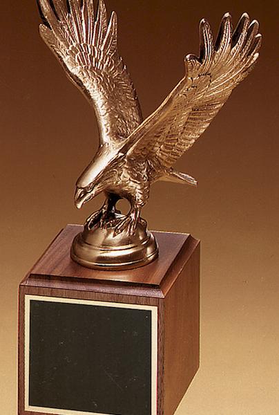 eagle on walnut base