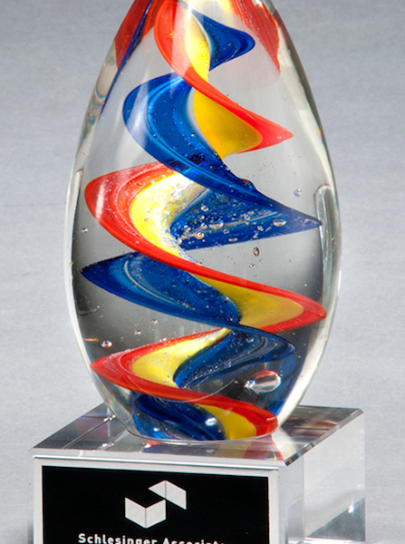 Colorful Egg Art Glass