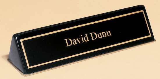 piano finish nameplate