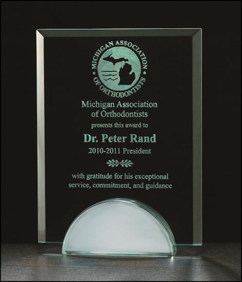 apex series glass award mirror base